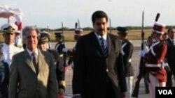 El presidente uruguayo, Tabaré Vázquez, fue el primer mandatario latinoamericano en arribar a Venezuela.