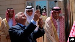 وزیر خارجه عراق در مراسم افتتاح کنسولگری عربستان در عراق