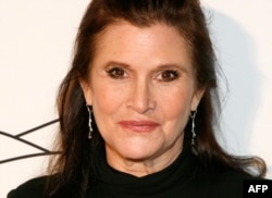 "FILE - Carrie Fisher is pictured at the 2011 Silver Hill Hospital gala at Cipriani 42nd Street, in New York City, Nov. 3, 2011. The actor best known for her portrayal of Princess Leia in the ""Star Wars"" films died Tuesday, days after suffering a heart attack on a transatlantic flight."