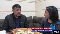 Toshkentdan maxsus: Abu Muslim bilan bir lagan beshbarmoq ustida suhbat