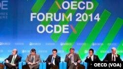 2014年經濟合作與發展組織在法國巴黎該組織總部的會議中心舉行OECD論壇 (資料圖片)