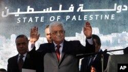 Le président palestinien Mahmoud Abbas, le 2 décembre 2012. (AP Photo/Nasser Shiyoukhi, File)