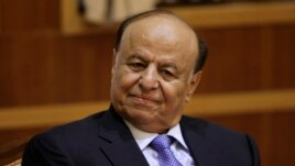 FILE - Yemeni President Abd-Rabbu Mansour Hadi