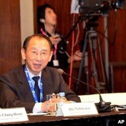 Nobuyasu Abe, Japan Institute of International Affairs, Seoul, South Korea, Dec. 12, 2011.