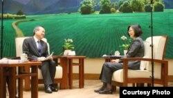 蔡英文总统接受日本《读卖新闻》专访(台湾总统府)