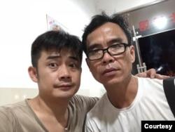 歐彪峰與董建彪。 (網絡圖片)