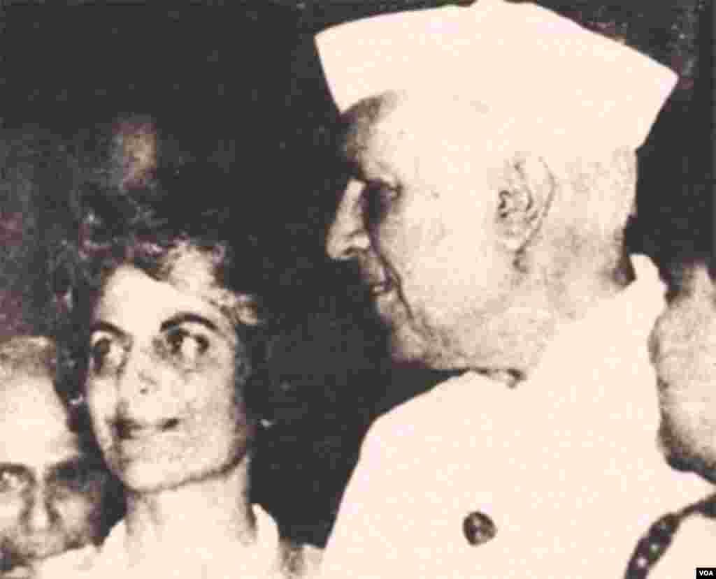 با جواهر لعل نهرو، نخست وزیر سابق هند