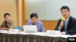 台湾民间智库中华民国国际关系学会举办美中贸易战座谈 (美国之音张永泰拍摄)