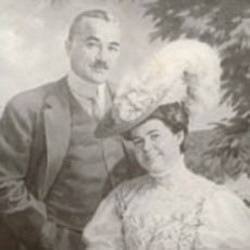Milton Hershey and wife.