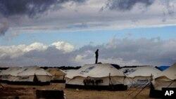 Лагерь сирийских беженцев.