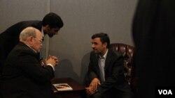 El presidente iraní Mahmoud Ahmadinejad arremetió contra Estados Unidos y las potencias europeas en su incendiario discurso ante la ONU.