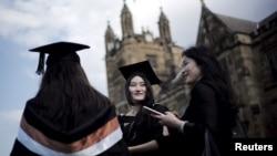 澳大利亚悉尼大学的中国留学生。(2020年4月22日)