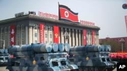 2017年4月15日,北韓為慶祝開國領導人金日成105週年誕辰在平壤金日成廣場舉行盛大閱兵