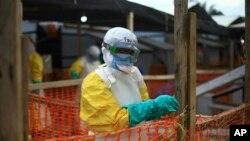 Mosala ya bokolongono na bitumba na Ebola na Beni, Nord-Kivu, 16 avril 2019.