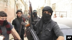 Binh sĩ của Quân đội Giải phóng Syria tại một khu vực trong thủ đô Damascus