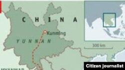 Bản đồ dự án mạng lưới đường sắt cao tốc Bangkok - Côn Minh