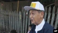 缅甸民主党主席吴督威在仰光竞选