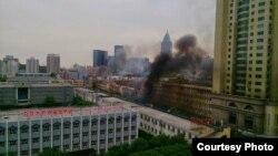 新疆乌鲁木齐沙依巴克区公园北街发生一起爆炸案((RFA使用过的网络图片))