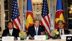 U.S. Secretary of State John Kerry chairs a meeting of the ASEAN Foreign Ministers in New York Friday, September 27.