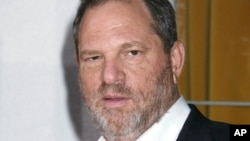 "FILE - Harvey Weinstein is seen at the premiere of ""Vicky Cristina Barcelona"" in Los Angeles, California."