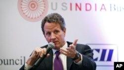 امریکی وزیر خزانہ ٹموتھی گائتتھنر بھارتی دورے پر