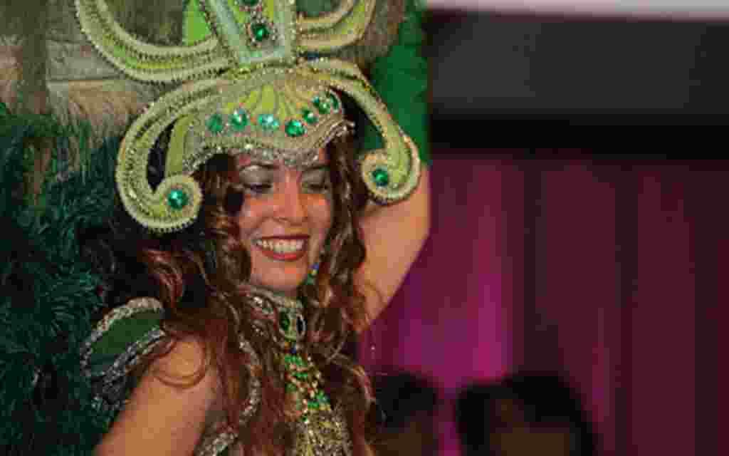 La samba también estuvo en el menú del evento.