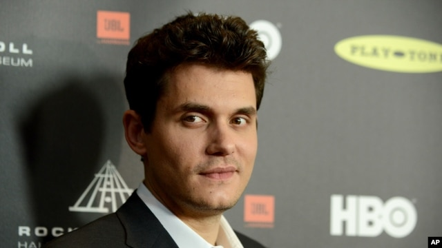 John Mayer attends the Rock and Roll Hall of Fame Induction Ceremony at the Nokia Theatre on April 18, 2013 in Los Angeles.