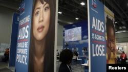 Cuộc triển lãm tại Hội nghị quốc tế về AIDS năm 2012 tại thủ đô Washington, ngày 23/7/2012