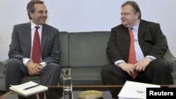 Lideri Nove demokratije i PASOK-a, Antonis Samaras i Evangelos Venizelos