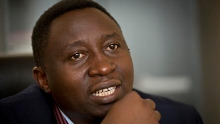 Frank Habineza, umuyobozi w'ishyaka mu Rwanda.