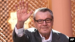 FILE - Czech-born filmmaker Milos Forman poses for a photo at the Marrakesh 7th International Film Festival, Dec. 8, 2007, in Marrakesh.