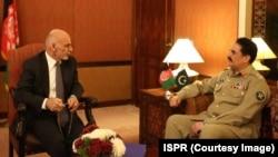 رئیس جمهور غنی روز چهارشنبه با رئیس ارتش پاکستان هم ملاقات کرد