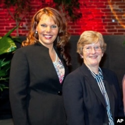 Kimberly Ritter (left) and Sister Patty Johnson are battling sex trafficking in US hotels.