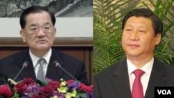 連戰(左) 習近平(右)