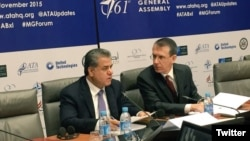 Irak Kürt Bölgesel Yönetimi'nin dışişleri bakanlığını yürüten Felah Mustafa Bakir Belçika'nın başkenti Brüksel'de düzenlenen 61'inci NATO Genel Toplantısı'na katıldı.