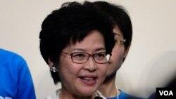 香港特首選當選人林鄭月娥資料照。