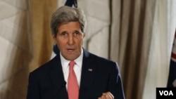 ລັດຖະມົນຕີຕ່າງປະທດ ສະຫະລັດ ທ່ານ John Kerry