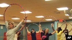 Hula-Hooping Back as Exercise Fad