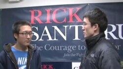 中国留学生爱奥华见习美国选举制度
