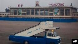 지난 20011년 10월 촬영한 북한 평양 공항의 모습.