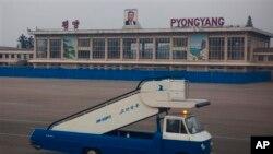 Suasana di bandara internasional Pyongyang, Korea Utara (Foto: dok).