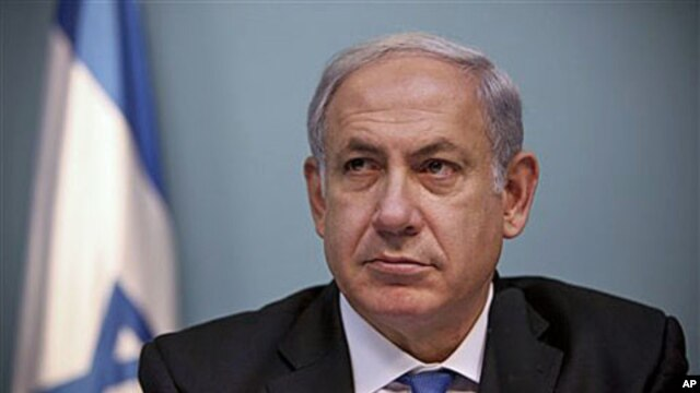 Israeli Prime Minister Benjamin Netanyahu listens during a press conference in Jerusalem about a US-drafted deal to renew a freeze on new construction in West Bank settlements, 15 Nov 2010