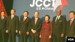 王歧山出席第23届中美商贸联委会(前四)(美国之音莉雅拍摄)
