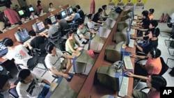 中國青年在北京一家網吧(資料圖片)