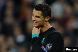 Cristiano Ronaldo du Real Madrid au cours du match de la Ligue des champions.