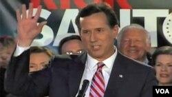 Rick Santorum mengejutkan banyak kalangan dengan mendapatkan dukungan yang besar di Iowa, dan hanya berselisih 8 suara dari Mitt Romney (foto: dok).