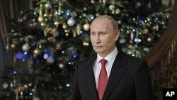 2011年12月31号,俄罗斯总理普京祝愿全国新年快乐