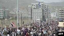 Anti-vladini demonstranti u gradu Ib traže ostavku predsednika Ali Abdulaha Saleha, 30. marta 2011.