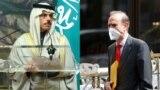 انریکه مورا معاون مسئول سیاست خارجی اتحادیه اروپا و فیصل بن فرحان وزیر امور خارجه سعودی