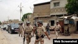 سیکیورٹی فورسز کا گشت